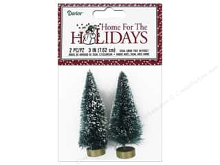 craft & hobbies: Darice Sisal Tree 3 in. Green with Frost 2 pc.