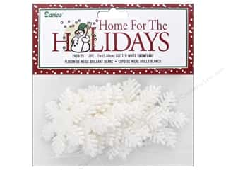 craft & hobbies: Darice 2 in. Snowflake 12 pc. Glitter White