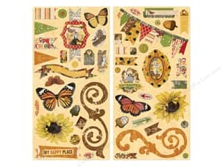 chipboard stickers: Bo Bunny Chipboard Stickers Enchanted Harvest