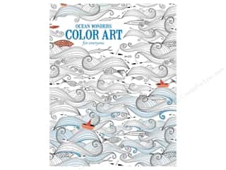 Activity Books / Puzzle Books: Ocean Wonders Color Art For Everyone Coloring Book by Leisure Arts