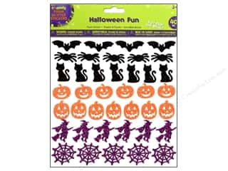 Darice Foamies Stickers Halloween Fun Glitter 40 pc.