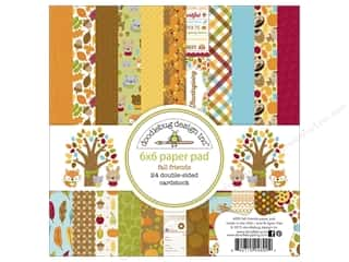 """Bo Bunny Paper Pads 6""""x 6"""": Doodlebug Paper Pad 6 x 6 in. Fall Friends"""
