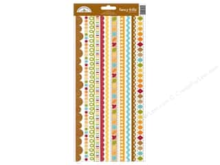 Theme Stickers / Collection Stickers: Doodlebug Fall Friends Collection Sticker Fancy Frills (12 pieces)