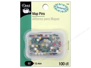 Dritz Map Pins 5/8 in.100 pc.