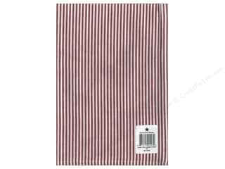 """Dunroven House Towel 20""""x 28"""" Chambray Stripe Red/White"""