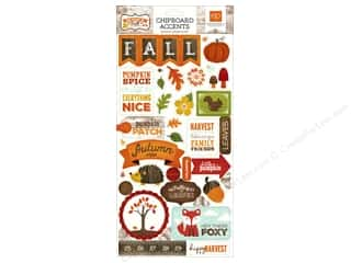 photo corner adhesive: Echo Park Adhesive Chipboard 6 x 12 in. Story Of Fall Collection