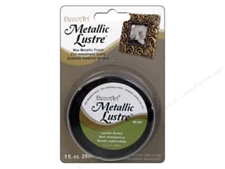 craft & hobbies: DecoArt Metallic Lustre 1 oz. Lavish Green