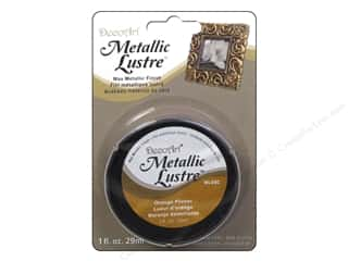 DecoArt Metallic Lustre 1 oz. Orange Flicker