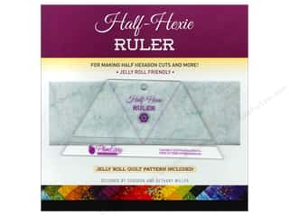 Quilting Rulers: Plum Easy Patterns Ruler Half Hexie