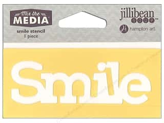 "Hampton Art Mix The Media Stencil 4"" Smile"