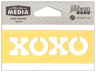 "craft & hobbies: Hampton Art Mix The Media Stencil 4"" XOXO"
