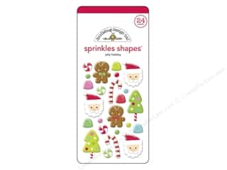 theme stickers  holidays: Doodlebug Sticker Sprinkles Sugarplums Jolly Holiday