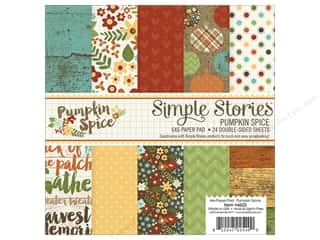 "Bo Bunny Paper Pads 6""x 6"": Simple Stories Pumpkin Spice Collection Paper Pad 6""x 6"""