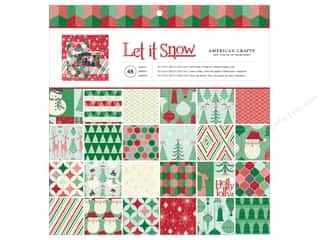 American Crafts Paper Pad 12 x 12 in. Let It Snow