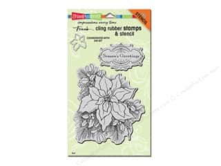 Rubber Stamps: Stampendous Cling Rubber Stamp Christmas Create A Poinsettia