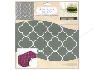 Weekly Specials: DecoArt Americana Decor Stencil 12 x 12 in. Mod Quatrefoil