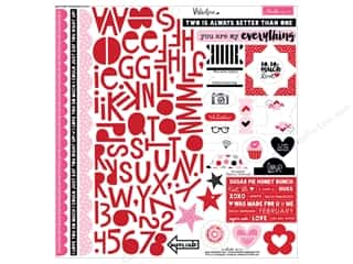 stickers: Bella Blvd Stickers Valentina Treasures & Text (12 sets)
