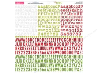 stickers: Bella Blvd Sticker Tiny Text Alphabet Festive (12 sets)