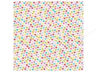 Bella Blvd Clear Cuts Transparency 12 x 12 in. Color Chaos Hearts Colorful