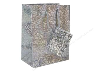 Darice Gift Bag 4 1/2 x 5 1/2 in. Hologram Silver