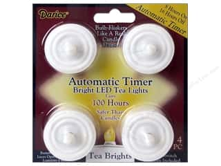 craft & hobbies: Darice Lights Bright LED Tea Light with Timer 100 Hours 4pc