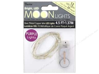 Darice: Darice Light Moon LED 4.5ft Silver Wire 12 Purple