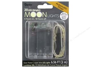 Holiday Sale: Darice Light Moon LED with Timer 6.5ft Silver Wire 20 Bright White