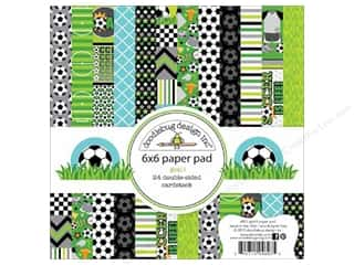 """Bo Bunny Paper Pads 6""""x 6"""": Doodlebug Paper Pad 6 x 6 in. Goal Collection"""
