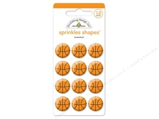 3-D Stickers / Fuzzy Stickers / Foam Stickers: Doodlebug Collection Slam Dunk Sprinkle Shapes Basketball
