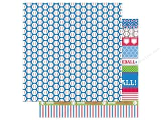 scrapbooking & paper crafts: Doodlebug 12 x 12 in. Paper Home Run Baseballs (25 sheets)