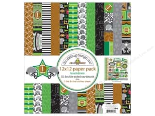 "helmet: Doodlebug Collection Touchdown Paper Pack 12""x 12"""