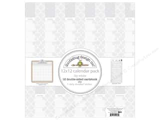 patterned paper: Doodlebug 12 x 12 in. Paper Pack Daily Doodles Lily White