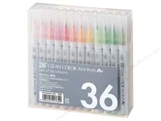 Zig Clean Color Real Brush Marker Set 36pc