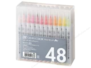 Zig Clean Color Real Brush Marker Set 48pc