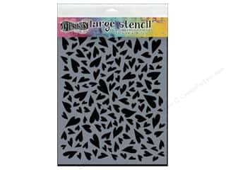 craft & hobbies: Ranger Dylusions 9 x 12 in. Stencil Hearts