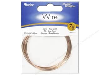 beading & jewelry making supplies: Darice Jewelry Wire Aluminum Jewelry Designer 20Ga Rose Gold 7gr