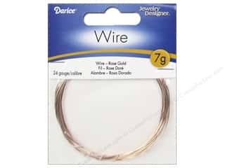 beading & jewelry making supplies: Darice Jewelry Wire Aluminum Jewelry Designer 24Ga Rose Gold 7gr