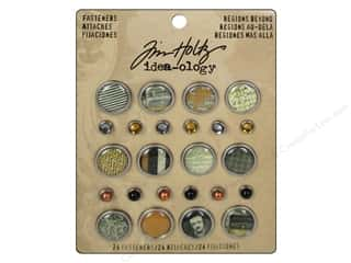 metallic brads: Tim Holtz Idea-ology Fasteners Regions Beyond