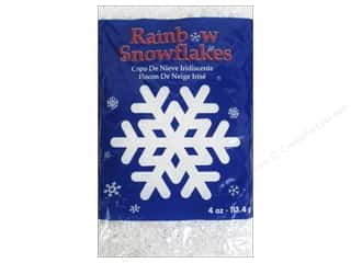 Winter Wonderland Snow Texture: Darice Rainbow Snowflakes 4 oz. Iridescent