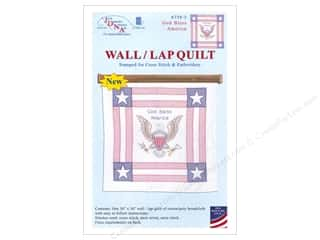 square hoop: Jack Dempsey Wall Quilt God Bless America