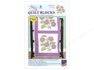 Jack Dempsey 18 in. Quilt Blocks 6 pc. White Violets