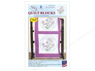 Jack Dempsey 18 in. Quilt Blocks 6 pc. Wild Flowers