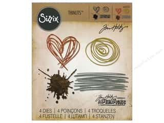 dies: Sizzix Thinlits Die Set 4 pc. Scribbles & Splat