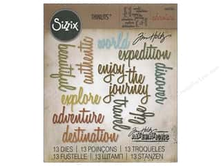 dies: Sizzix Thinlits Die Set 13 pc. Adventure Words: Script