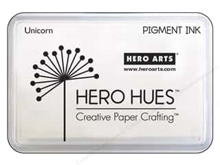 embossing ink: Hero Arts Ink Pad Craft Pigment Unicorn White