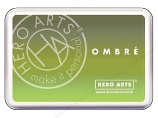 ombre ink pad: Hero Arts Ink Pad Ombre Lime/Forever Green