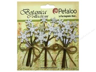 Petaloo Botanica Collection Holiday Pick Glitter Snowflake White