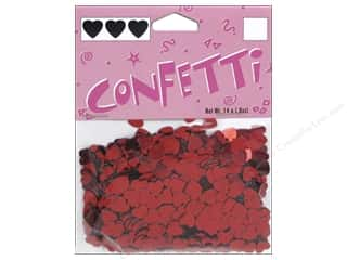 Darice Confetti Pack 6 mm Hearts .5 oz. Red