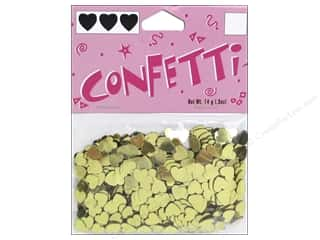 Clearance: Darice Confetti Pack 6 mm Hearts .5 oz. Gold