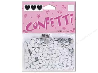 Darice Confetti Pack 6 mm Hearts .5 oz. Silver